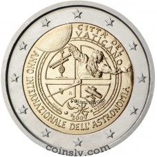 "2 euro Vatican 2009 ""International Year of Astronomy"""