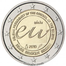 "2 euro Belgium 2010 ""Belgian Presidency of the Council of the EU in 2010"""