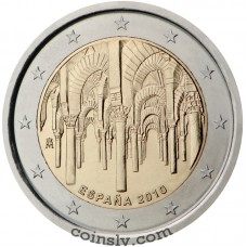 "2 euro Spain 2010 ""The historical centre of Córdoba"""