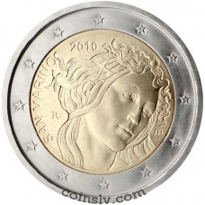 "2 euro San Marino 2010 ""500th anniversary of the death of Sandro Botticelli"""