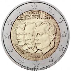 """2 euro Luxembourg 2011 """"Grand Duc Jean de Luxembourg 'lieutenant-représentant'"""""""