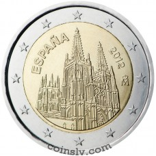 "2 euro Spain 2012 ""The Burgos Cathedral"""