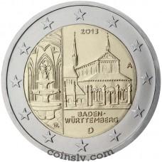"2 euro Germany 2013 ""Baden-Württemberg ""Maulbronn Monastery"""" (A)"