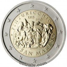"2 Euro San Marino 2013 ""500th anniversary of the death of the Italian painter Pinturicchio"""