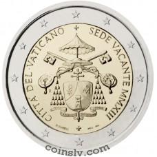 "2 euro Vatican 2013 ""Sede Vacante MMXIII"""
