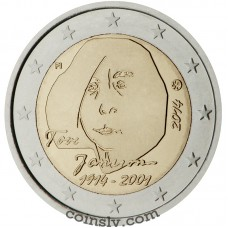 "2 Euro Finland 2014 ""The 100th Anniversary of the birth of author and artist Tove Jansson"""