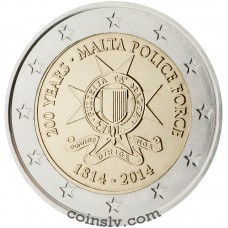 "2 Euro Malta 2014 ""200 years of Malta Police Force"""