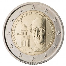 "2 Euro San Marino 2014 ""500th anniversary of the death of Bramante Lazzari delle Penne di San Marino"""