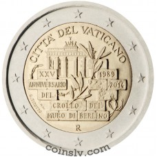 "2 Euro Vatican 2014 ""25th anniversary of the fall of the Berlin Wall"""