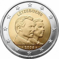 "2 euro Luxembourg 2006 ""25th birthday of the heir to the throne Grand-Duke Guillaume"""