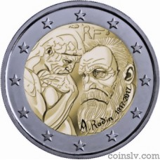 "2 Euro France 2017 ""Centenary of Auguste Rodin"""