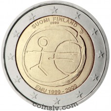 "2 euro Finland 2009 ""10 years of Economic and monetary union"""