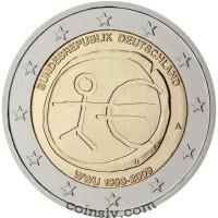 "2 euro Germany 2009 ""10 years of Economic and monetary union"" (F)"