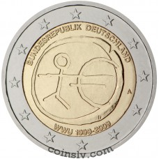 "2 euro Germany 2009 ""10 years of Economic and monetary union"""