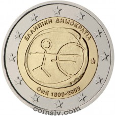 "2 euro Greece 2009 ""10 years of Economic and monetary union"""