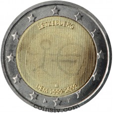 "2 euro Luxembourg 2009 ""10 years of Economic and monetary union"""