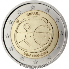 "2 euro Spain 2009 ""10 years of Economic and monetary union"""