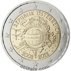 "2 euro Austria 2012 ""10 years of the Euro"""
