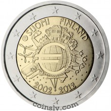 "2 euro Finland 2012 ""10 years of the Euro"""