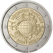 "2 euro France 2012 ""10 years of the Euro"""