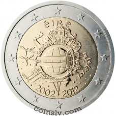 "2 euro Ireland 2012 ""10 years of the Euro"""