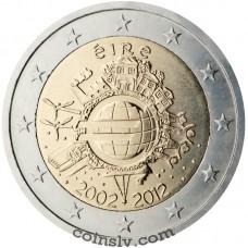 "2 euro Ireland 2012 ""10 years of the Euro"""