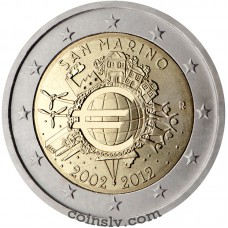 "2 euro San Marino 2012 ""10 years of the euro"""