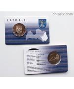"""Coincard 2 euro Latvia 2017 """"Latgale"""""""