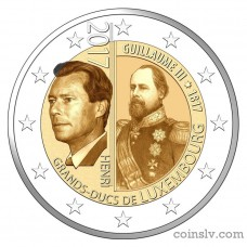 "2 Euro Luxembourg 2017 ""The 200th anniversary of the Grand Duke Guillaume III"""