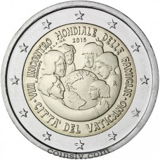 "2 Euro Vatican 2015 ""The VIII World Meeting of Families"""