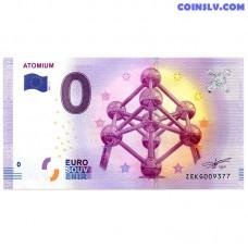 0 Euro banknote 2017 Belgium -Atomium