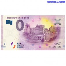 0 Euro banknote 2017 Germany -Heidelberger Schloss