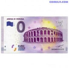 0 Euro banknote 2017 Italy -Arena di Verona