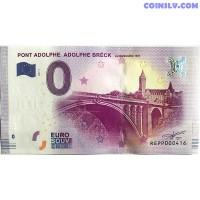 0 Euro banknote 2017 - Pont Adolphe Breck