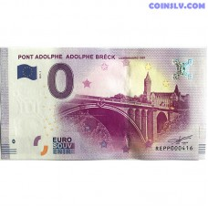 0 Euro banknote 2017 - Pont Adolphe Breck