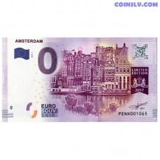 0 Euro banknote 2017 Netherlands -Amsterdam