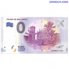 0 Euro banknote 2017 Spain -Palma de Mallorca