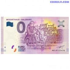 0 Euro banknote 2018 Austria -MozartHaus - Salzburg