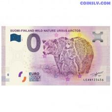"""0 Euro banknote 2018 Finland """"URSUS ARCTOS"""""""