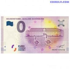 "0 Euro banknote 2018 Germany ""Heusenstamm - Schloss Schonborn"""