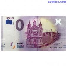 """0 Euro banknote 2018 Lithuania """"KAUNAS"""""""