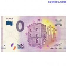 "0 Euro banknote 2018 Lithuania ""VILNIUS"""