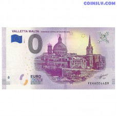 "0 Euro banknote 2018 Malta ""VALLETTA"""