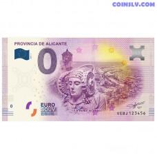 """0 Euro banknote 2018 Spain """"PROVINCIA DE ALICANTE"""""""