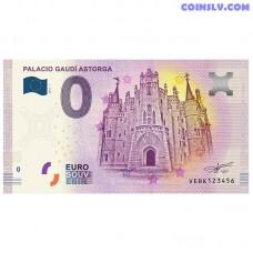"0 Euro banknote 2018 Spain ""PALACIO GAUDI ASTORGA"""