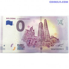 0 Euro banknote 2018 - Bologna