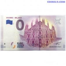0 Euro banknote 2018 - Milano (Duomo)