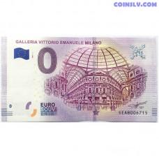 0 Euro banknote 2018 - Milano (Galleria Vittorio Emanuele)
