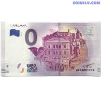 0 Euro banknote 2018 - Ljubljana