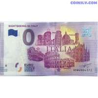 0 Euro banknote 2019 - Sightseeing in Italy